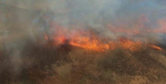 שריפה משתוללת סמוך לכביש 90; כוחות רבים הוקפצו