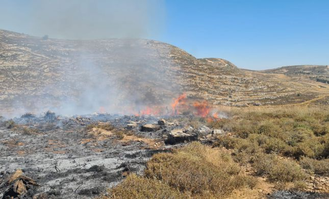 שריפה פרצה בבסיס סמוך ליישוב שילה