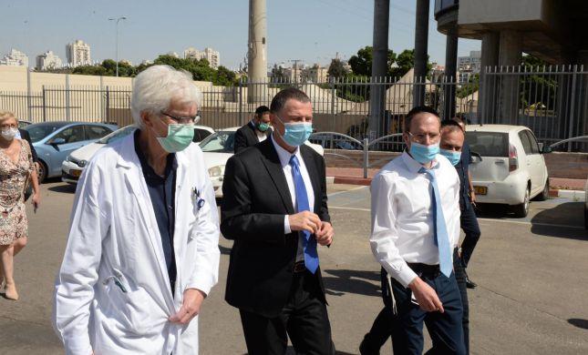 לראשונה: אדלשטיין ביקר בבית החולים מעיני הישועה