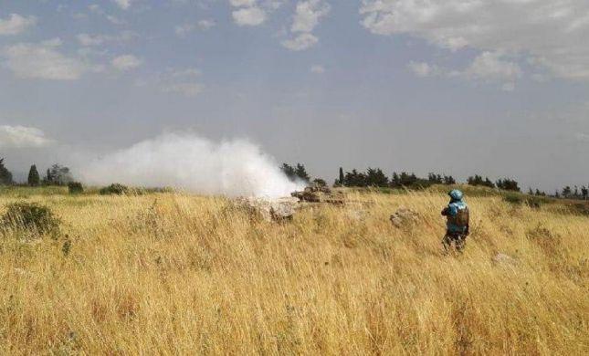 """צפו: שני טנקים של צה""""ל חצו את גדר הגבול עם לבנון"""