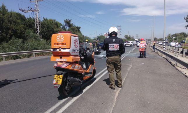 כביש 461: בן 35 שרכב על אופנוע נפצע בינוני