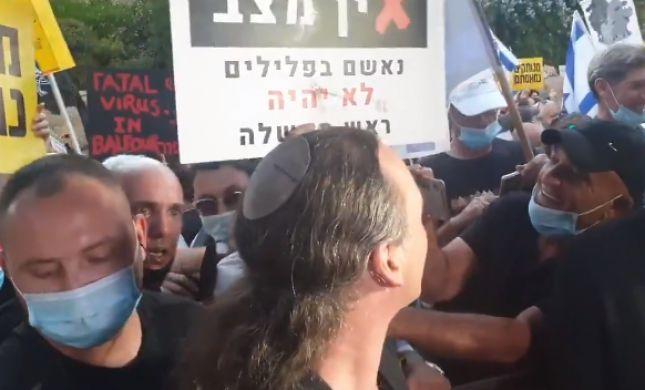 צעקות על אבישי בן חיים ותקיפת כתב בידי שוטרים