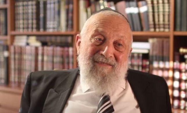 """ברוך דיין האמת: בגיל 92 נפטר הרב סיני אדלר זצ""""ל"""