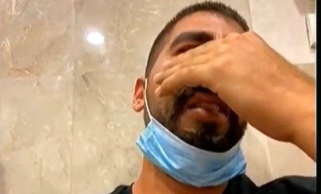 צפו: הצעיר שנעצר באלימות בגלל מסכה פרץ בבכי בדיון