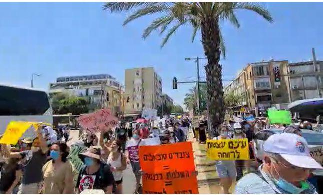 מחאת העובדים הסוציאליים: חסימת כבישים בתל אביב