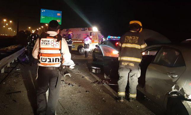 בת 48 נהרגה ו-4 נפצעו בתאונת שרשרת בכביש 6