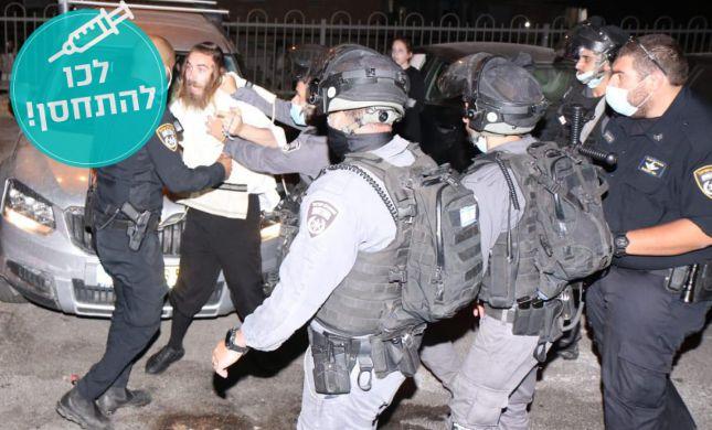 2 עצורים במהומות על אי עטיית מסכה במאה שערים