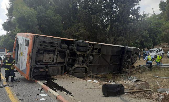 18 פצועים בהתהפכות אוטובוס בצפון