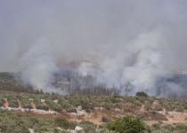 השריפה סמוך למבוא דותן: החל פינוי תושבים
