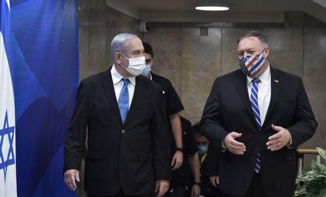 """פומפאו לנתניהו: """"נשמור על יתרונה הצבאי של ישראל"""""""