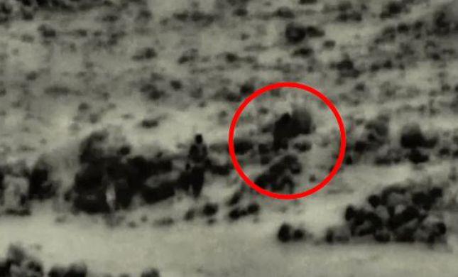 תיעוד: מטוס קרב מחסל 4 מחבלים שהניחו מטען