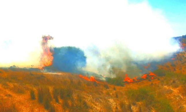 שריפות ובלוני נפץ | צפו: עוטף עזה בוער