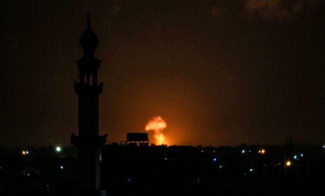 """באש מטוסים וטנקים: צה""""ל תקף ברצועת עזה"""