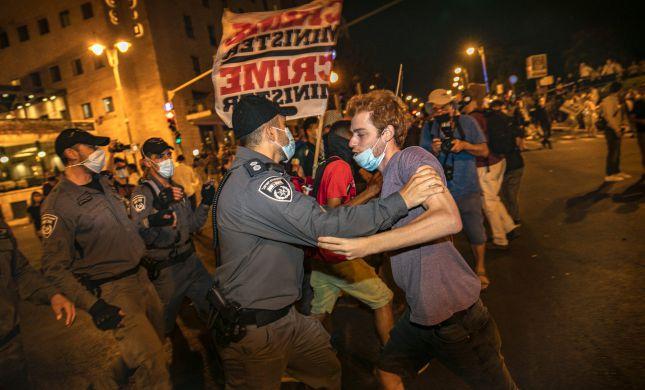 המחאה בבלפור: החשוד שתקף קצין משטרה הודה