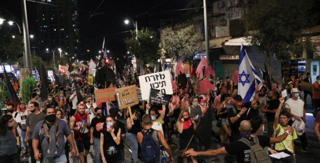 מחאות ברסלב והשמאל התאחדו נגד נתניהו