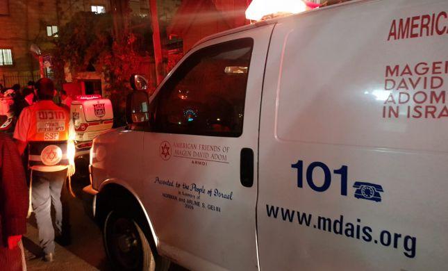 תינוק בן שנה וחצי נפצע קשה בתאונה בירושלים