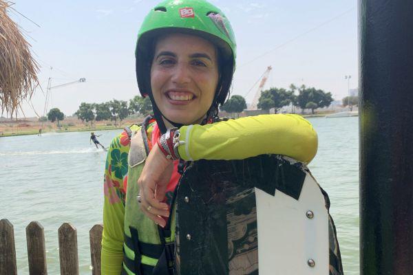 שירצור באקסטרים: סקי מים באגם בתל אביב
