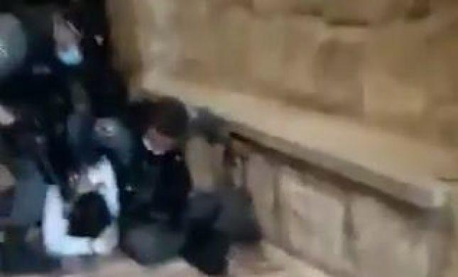 צפו: הגניב שופר להר הבית בתחפושת מוסלמי ונעצר באלימות