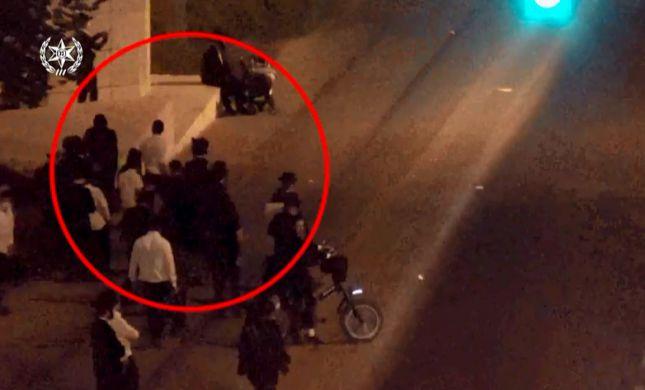 תיעוד קשה: זריקות אבנים על שוטרים במאה שערים