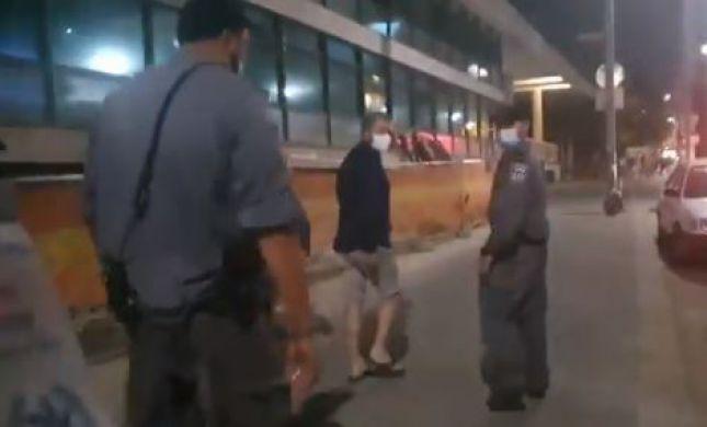 """צפו: ריקלין מלווה לביתו מוקף בשוטרי יס""""מ"""