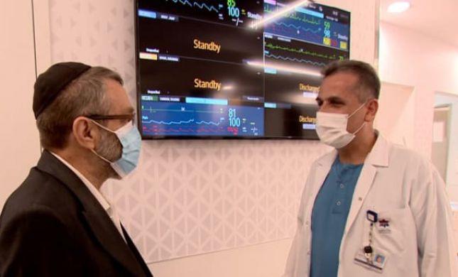 גפני נפגש עם הרופא שהציל את חייו בחודש שעבר. צפו