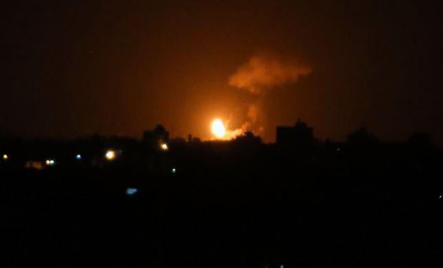 """צה""""ל תקף הלילה מהאוויר יעד קרקעי של חמאס"""