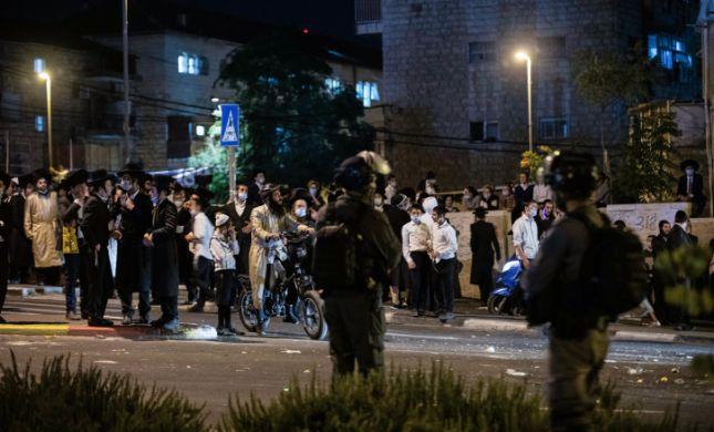 ארבעה שוטרים נפצעו בעימותים במודיעין עלית