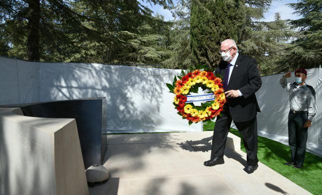 """הנשיא הקדים והניח זר על קברו של יצחק רבין ז""""ל"""