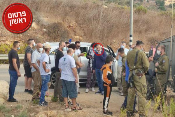 """קצין בכיר בשב""""כ הפלסטיני משתתף בפעילויות שמאל"""