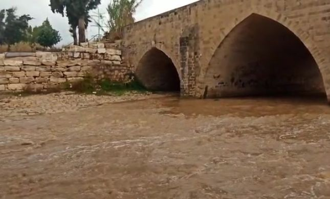 צפו: זרימה חזקה בנחל לכיש באזור גשר עד הלום