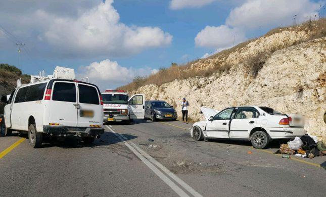 תאונת דרכים קשה ליד יצהר; בן 20 פצוע קשה