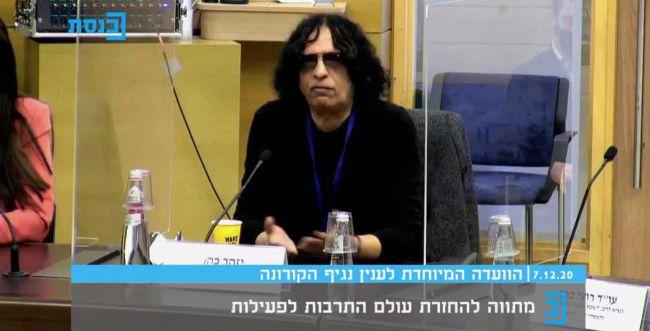 """הזמר יזהר כהן בכנסת: """"אין לנו כסף לקנות במכולת"""""""