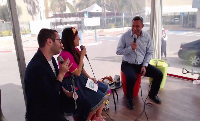 אלון דוידי במשאית הסרוגה: 'עושים הכל למען התושבים'