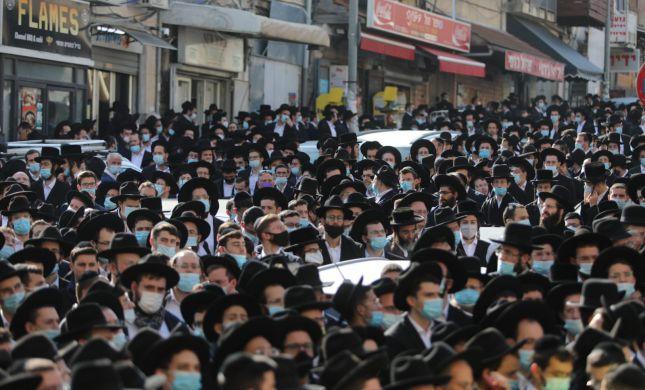 """בתנאי קורונה: אלפים בהלווית הרב אהרון חדש זצ""""ל"""