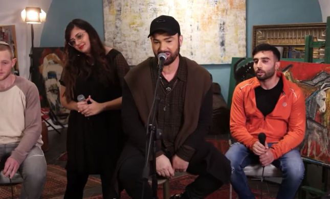 """מרגש: דוד ד'אור בשיר עם פצועי צה""""ל ונפגעי האיבה"""