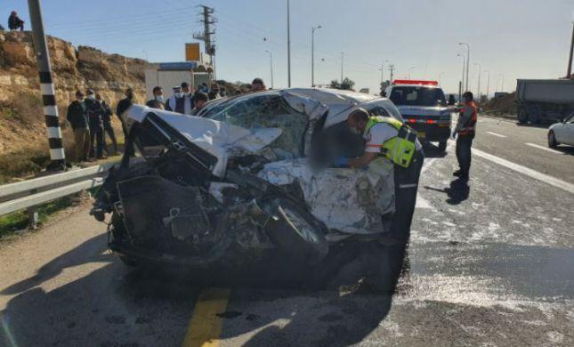 תאונה קטלנית בדרום הר חברון; אדם אחד נהרג