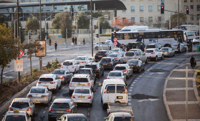 שעות לפני שבת: עומסי תנועה בכניסה לירושלים