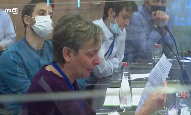 בדמעות בעיניים: לאה גולדין ריגשה את ועדת חוץ ובטחון