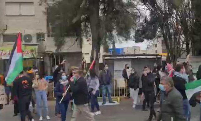 צפו: עימותים אלימים בנצרת לקראת הגעת נתניהו