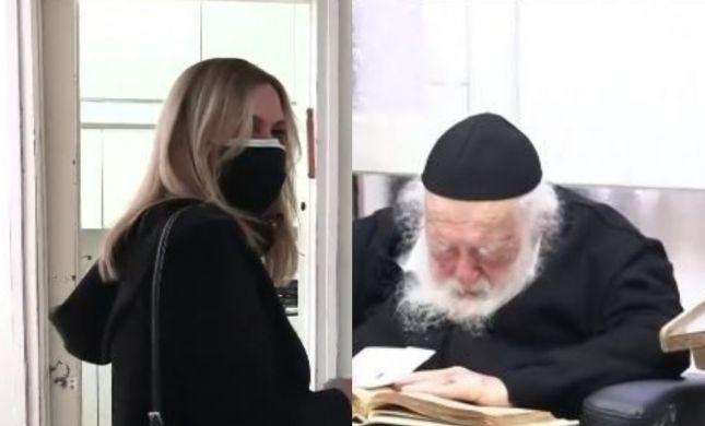 אילה חסון בתיעוד נדיר של הרב קנייבסקי. צפו