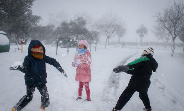 """עכשיו זה רשמי: 5-10 ס""""מ של שלג ייערמו בירושלים"""