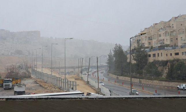 זה הגיע: שלג החל לרדת בירושלים