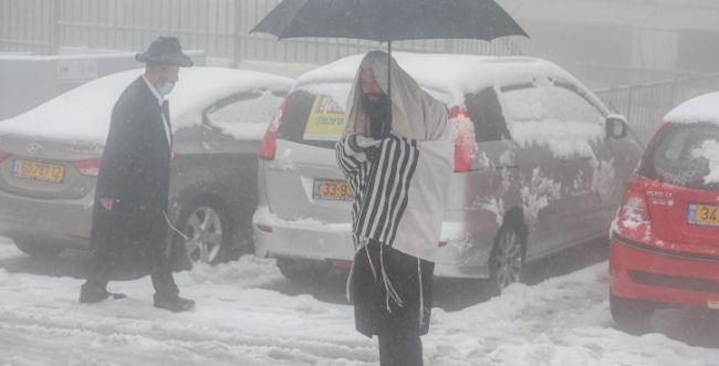 """גם בגשם, שלג וקורונה -  אנו לא מתנתקים מהקב""""ה"""