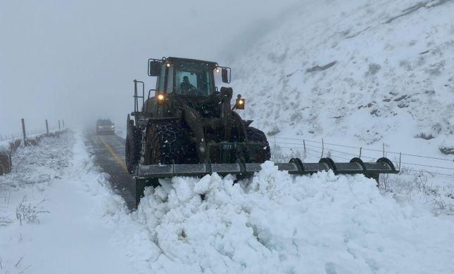 """מהצפון ועד יו""""ש: כך צה""""ל נערך לסופות השלגים"""