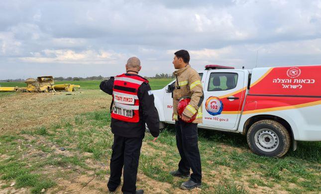 מטוס ריסוס התרסק בנגב: הטייס נפצע באורח בינוני