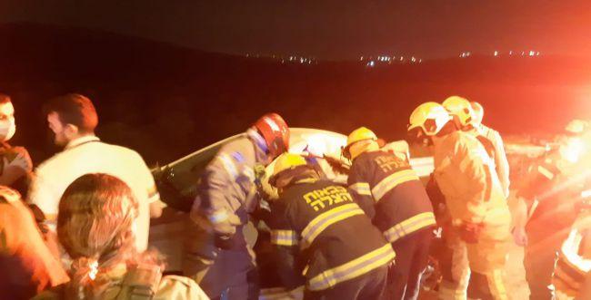 פצוע קשה בתאונת דרכים קשה בשומרון