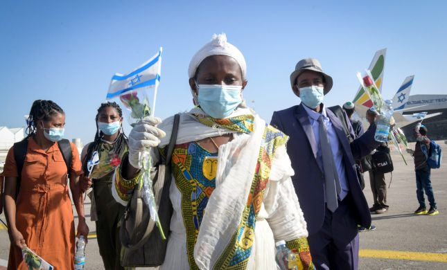 """""""זיהום פוליטי"""": בלאגן בטקס קבלת העולים מאתיופיה"""
