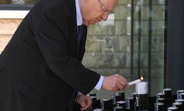 נשיא המדינה הדליק 45 נרות נשמה לזכר הנספים
