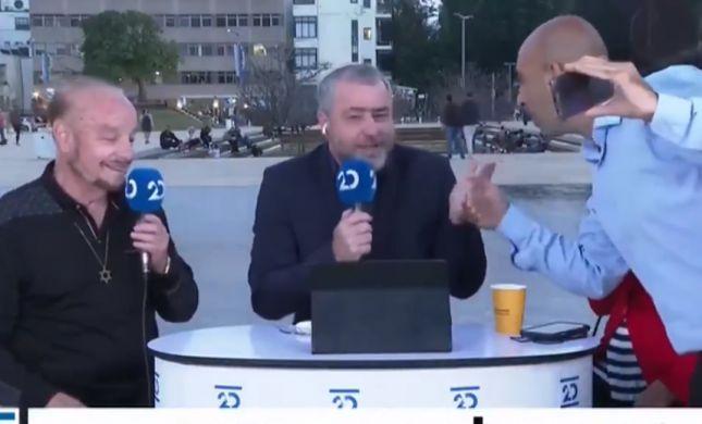 """""""חולה נפש עם תעודות"""", ברק כהן הפריע לשידור - צפו"""