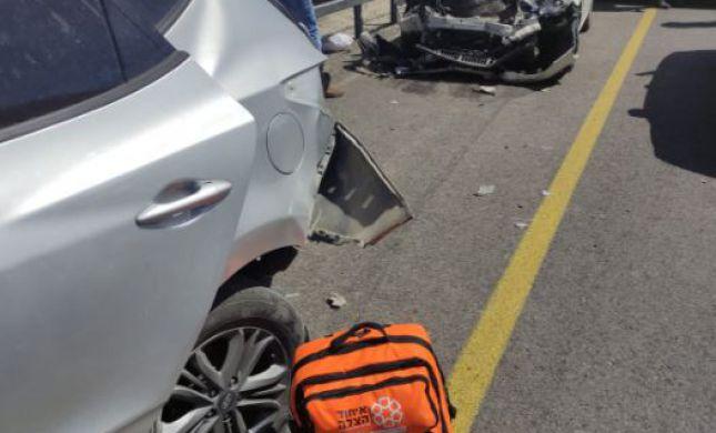 חמישה פצועים בתאונה קשה סמוך למצפה יריחו